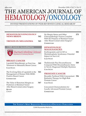 MPR Hematology/Oncology Edition